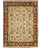 RugStudio presents Shalom Brothers Royal Zeigler Rzm-Sl11 Beige/Red Hand-Knotted, Best Quality Area Rug
