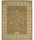 RugStudio presents Shalom Brothers Royal Zeigler Rzm-Sl69 Green/Beige Hand-Knotted, Best Quality Area Rug