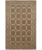 RugStudio presents Shalom Brothers Broadway B-4 Taupe - Beige Silk Hand-Knotted, Best Quality Area Rug