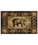 RugStudio presents Shaw Reflections Bear Country Brown 00700 Machine Woven, Good Quality Area Rug