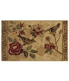 RugStudio presents Shaw Reflections Bird Study Beige 13100 Machine Woven, Good Quality Area Rug