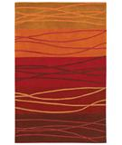 RugStudio presents Shaw Loft Cadentail Red 17800 Hand-Tufted, Good Quality Area Rug