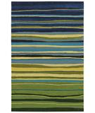 RugStudio presents Shaw Loft Candy Stripes Green 13300 Hand-Tufted, Good Quality Area Rug