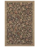 RugStudio presents Shaw Woven Expressions Gold English Floral Chocolate 11700 Machine Woven, Better Quality Area Rug