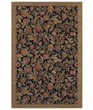 RugStudio presents Shaw Woven Expressions Gold English Floral Ebony 11500 Machine Woven, Better Quality Area Rug