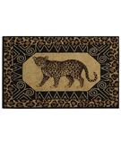 RugStudio presents Shaw Reflections Leopard Black 15500 Machine Woven, Good Quality Area Rug