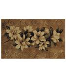 RugStudio presents Shaw Reflections Magnolias Gold 06200 Machine Woven, Good Quality Area Rug