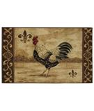 RugStudio presents Shaw Reflections Masion Rooster Beige 11100 Machine Woven, Good Quality Area Rug