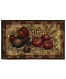 RugStudio presents Shaw Reflections Medallion Veggies Gold 10200 Machine Woven, Good Quality Area Rug