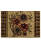 RugStudio presents Shaw Reflections Multi Pansies Beige 07100 Machine Woven, Good Quality Area Rug