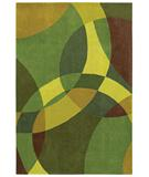 RugStudio presents Shaw Loft Nightlife Green 14300 Hand-Tufted, Good Quality Area Rug