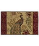 RugStudio presents Shaw Reflections Peacock Beige 08100 Machine Woven, Good Quality Area Rug