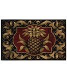 RugStudio presents Shaw Reflections Pineapple Black 02500 Machine Woven, Good Quality Area Rug