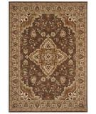 RugStudio presents Shaw Tommy Bahama Home-Nylon Port Royal Medallion Dark Brown 47710 Machine Woven, Good Quality Area Rug