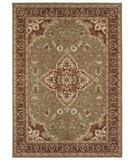 RugStudio presents Shaw Tommy Bahama Home-Nylon Port Royal Medallion Light Green 07300 Machine Woven, Good Quality Area Rug