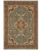 RugStudio presents Shaw Tommy Bahama Home-Nylon Port Royal Medallion Ocean 47600 Machine Woven, Good Quality Area Rug