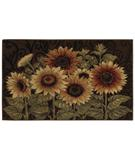 RugStudio presents Shaw Reflections Sunflower Medley Brown 09700 Machine Woven, Good Quality Area Rug