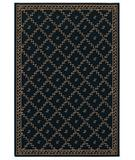 RugStudio presents Shaw Woven Expressions Gold Trellis Leaf Ebony 16500 Machine Woven, Better Quality Area Rug