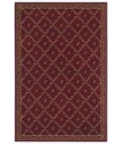 RugStudio presents Shaw Woven Expressions Gold Trellis Leaf Garnet 16800 Machine Woven, Better Quality Area Rug