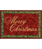 RugStudio presents Shaw Holidays Merry Christmas 3P173-00100 Machine Woven, Good Quality Area Rug