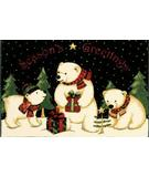 RugStudio presents Shaw Holidays Polar Bears 3P173-00104 Machine Woven, Good Quality Area Rug