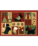 RugStudio presents Shaw Holidays Scotties 3P173-00109 Machine Woven, Good Quality Area Rug