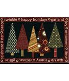 RugStudio presents Shaw Holidays Twinkle Trees 3P173-00119 Machine Woven, Good Quality Area Rug