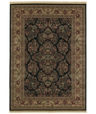 RugStudio presents Shaw Classic Style Royal Sarouk Ebony - 30500 Machine Woven, Better Quality Area Rug