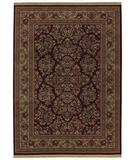 RugStudio presents Shaw Classic Style Royal Sarouk Garnet - 30800 Machine Woven, Better Quality Area Rug