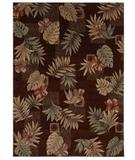 RugStudio presents Shaw Beachside Makiki Heights Brown - 8700 Machine Woven, Better Quality Area Rug