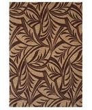 RugStudio presents Shaw Tommy Bahama Home-Nylon Abstract Leaf Dark Brown 43710 Machine Woven, Good Quality Area Rug