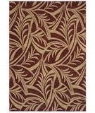 RugStudio presents Shaw Tommy Bahama Home-Nylon Abstract Leaf Cranberry 43800 Machine Woven, Good Quality Area Rug