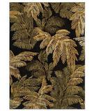 RugStudio presents Shaw Tommy Bahama Home-Nylon Archival Fern Black 44500 Machine Woven, Good Quality Area Rug