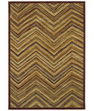 RugStudio presents Shaw Tommy Bahama Home-Nylon Aboriginal Lines Dark Brown 51710 Machine Woven, Good Quality Area Rug