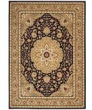 RugStudio presents Shaw Arabesque Easton Cannon Black 02500 Machine Woven, Best Quality Area Rug