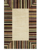 RugStudio presents Shaw Modern Elements Ashbury Beige - 04100 Machine Woven, Good Quality Area Rug