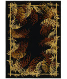 RugStudio presents Shaw Tommy Bahama Home-Nylon Bengali Border Black 49500 Machine Woven, Good Quality Area Rug