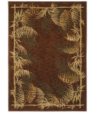 RugStudio presents Shaw Tommy Bahama Home-Nylon Bengali Border Dark Brown 49710 Machine Woven, Good Quality Area Rug