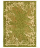 RugStudio presents Shaw Tommy Bahama Home-Nylon Bengali Border Light Green 49300 Machine Woven, Good Quality Area Rug