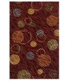 RugStudio presents Shaw Centre Street Hemisphere Red 03800 Machine Woven, Good Quality Area Rug