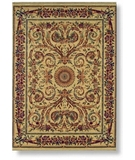 RugStudio presents Shaw Regal Heritage Charles X Aubusson Beige - 02100 Machine Woven, Better Quality Area Rug