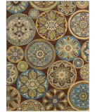 RugStudio presents Shaw Mirabella Esparron Brown 45700 Machine Woven, Good Quality Area Rug