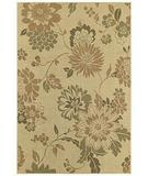 RugStudio presents Shaw Concepts Floral Vista Beige 11100 Machine Woven, Good Quality Area Rug