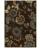 RugStudio presents Shaw Concepts Floral Vista Brown 11700 Machine Woven, Good Quality Area Rug