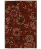 RugStudio presents Shaw Concepts Floral Vista Red 11800 Machine Woven, Good Quality Area Rug
