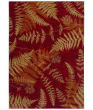 RugStudio presents Shaw Bob Timberlake Forest Ferns Cranberry 04800 Machine Woven, Good Quality Area Rug