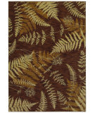 RugStudio presents Shaw Bob Timberlake Forest Ferns Dark Brown 04710 Machine Woven, Good Quality Area Rug