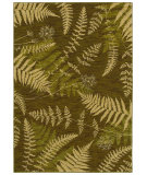 RugStudio presents Shaw Bob Timberlake Forest Ferns Dark Green 04310 Machine Woven, Good Quality Area Rug