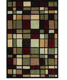 RugStudio presents Shaw Modern Elements Franklin Black - 00500 Machine Woven, Good Quality Area Rug