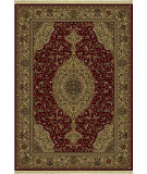 RugStudio presents Shaw Classic Style French Medallion Garnet 05800 Machine Woven, Better Quality Area Rug